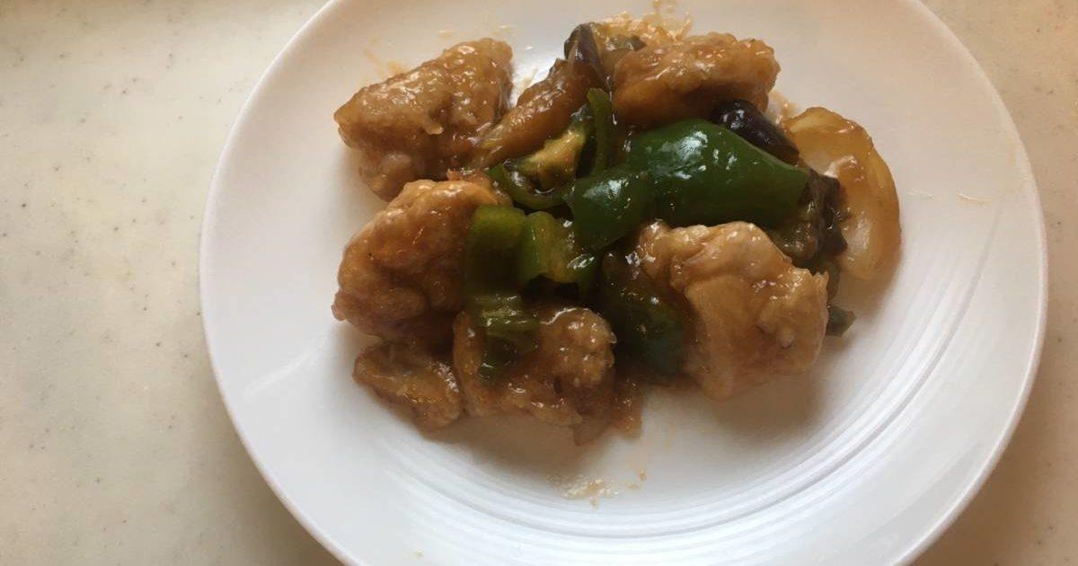 夏野菜のさっぱり酢鶏